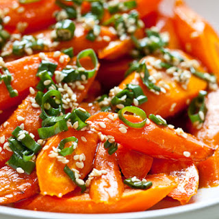 Roasted Carrots with Sesame Ponzu Vinaigrette
