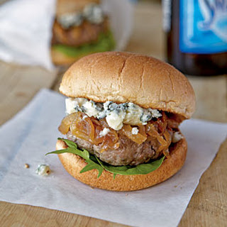 Lamb Sliders with Blue Cheese