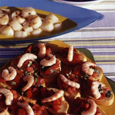 Shrimp Bruschetta with Tomato and Basil