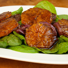 Serious Salads: Oranges, Caramelized Red Onions and Spinach with Balsamic Vinaigrette