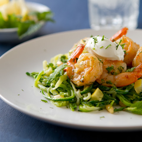Creamy Lemon Herb Shrimp on Zucchini Noodles