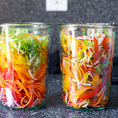 Pickled Vegetable Sandwich Slaw with Mustard Seeds