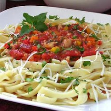 Garden Herb Pasta With Fresh Veg And Clams