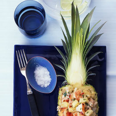 Lobster and Pineapple Salad with Basil and Mint