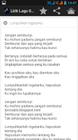Screenshot of Lirik Lagu Geisha
