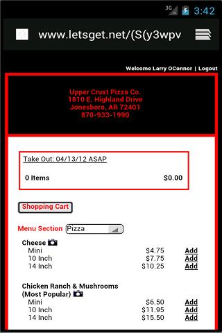 Upper Crust Pizza Company
