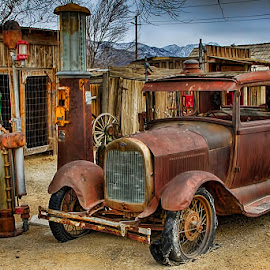 Left at the Pump! by Fred Herring - Transportation Automobiles