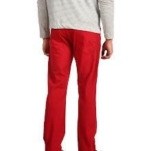 Mavi Jeans - Zach Regular Rise Straight Leg in Red (Red) - Apparel
