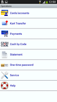 Screenshot of IBA MobilBank