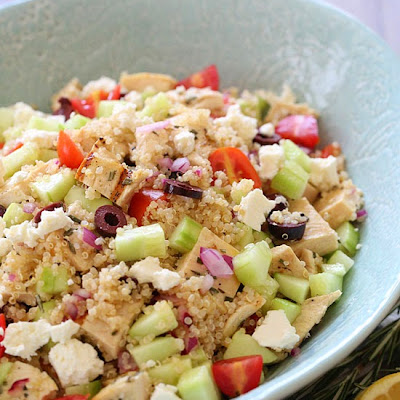 Grilled Mediterranean Chicken and Quinoa Salad