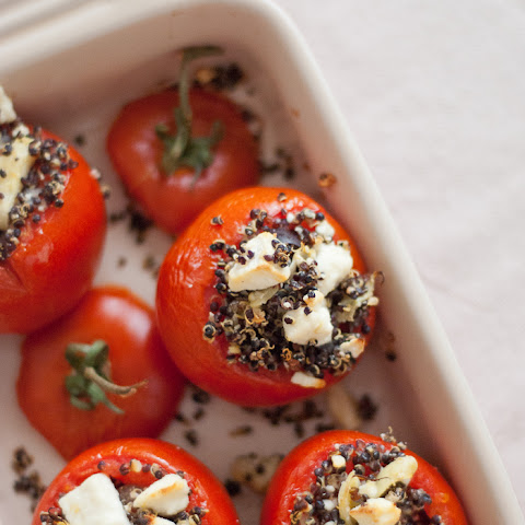 Mediterranean Stuffed Tomatoes with Quinoa