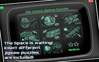 Screenshot of Space Jigsaw Puzzle
