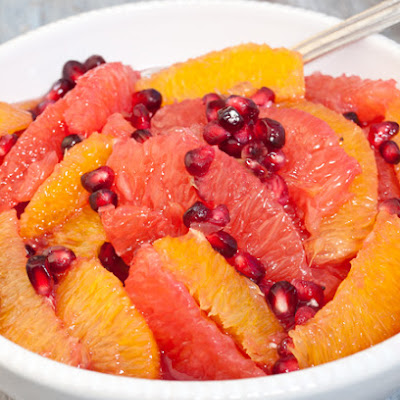 Winter Citrus and Pomegranate Fruit Salad