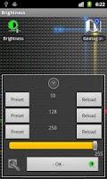 Screenshot of Brightness Control