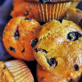 Sour Cream Blueberry Muffin