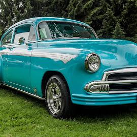 1951 Chevrolet by Jack Brittain - Transportation Automobiles ( car, lakeshore park, canada, chevrolet, blue, ontario, 1951, car show, oshawa )