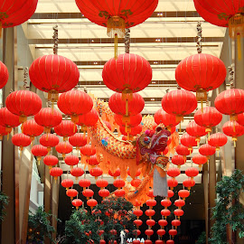 Lobby at Aria Hotel, Las Vegas by Laura Markison - Buildings & Architecture Office Buildings & Hotels ( dragon, aria, chinese new year )