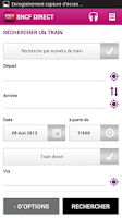 Screenshot of SNCF DIRECT