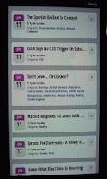 Screenshot of ZeroHedge Mobile