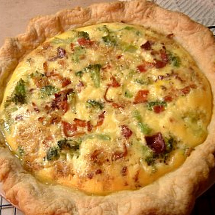 Zucchini, Bacon and Gruyere Cheese Quiche Recipe | Yummly
