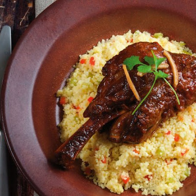 Braised Lamb Shanks with Lemon Confit