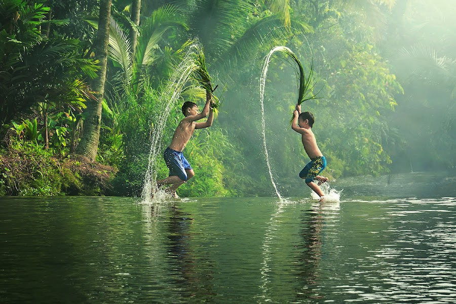 Water War Games by Ipoenk Graphic - Babies & Children Children Candids ( kids playing in summer )