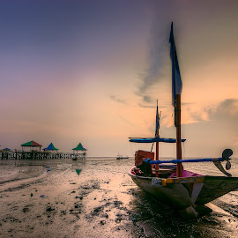 10 by Yossy Ryananta - Transportation Boats ( shore, mud, kenjeran, kenji, shine, sunrise, beach, morning, boat )