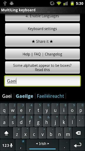 Plugin Irish Gaeilge