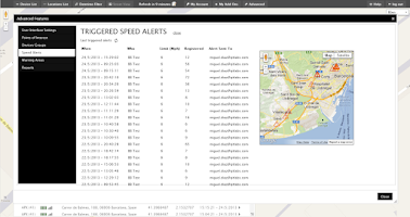 Screenshot of Cell Phone Tracker
