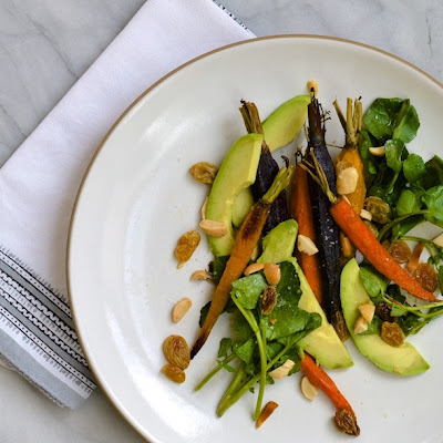 Cumin-Roasted Carrot & Avocado Salad