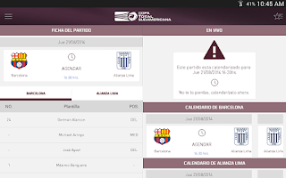 Screenshot of Copa TOTAL Sudamericana