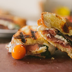 Caramelized Peach Caprese Panini, for Edible Boston
