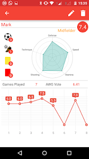Soccer formations - screenshot