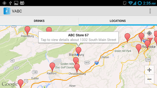 VABC - Virginia ABC Store Info - screenshot