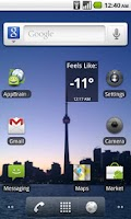 Screenshot of Wind Chill Widget