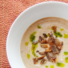 Roasted Cauliflower Soup With Bacon and Parsley Oil