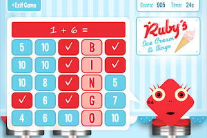 Screenshot of Squeebles Maths Bingo