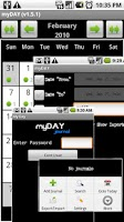 Screenshot of myDAY Journal (Demo)