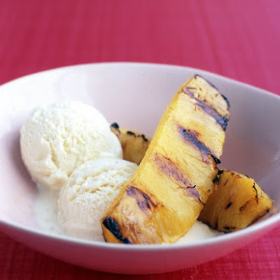 Broiled Pineapple with Ice Cream