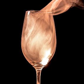 Smoke On The Glass by Dan Girard - Artistic Objects Glass ( abstract, dan_girard_photography, patterns, champagne glasses, incense, 2014, dan girard photography, art, smoke )