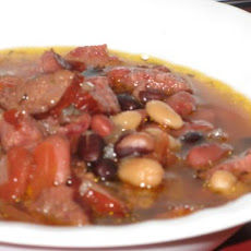 Red Bean, Rice and Sausage Soup