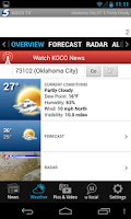 Screenshot of KOCO 5 News and Weather