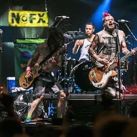 NoFX by Stéphane zOz - People Musicians & Entertainers ( sziget, music, concert, budapest, nofx, zoz, rock, singer, punk, portrait, bass, festival, guitar, live )