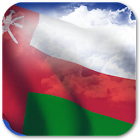 3D Oman Flag icon