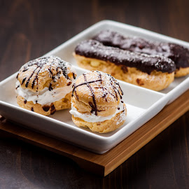 Puff by Nathan Isaksen - Food & Drink Cooking & Baking ( eclairs., cream puff, puff )