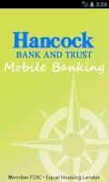 Screenshot of Hancock Bank & Trust Company