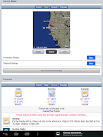 Screenshot of Florida Tides & Weather