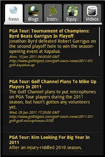 Golf Sports News - screenshot