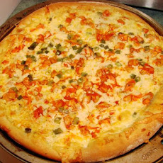 Our Favorite Buffalo Chicken Pizza