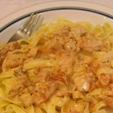 Fettuccini With Pancetta and Tomato Cream Sauce